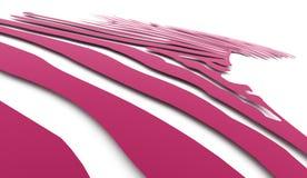 桃红色抽象转弯灯光管制线 库存图片