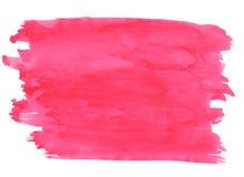 桃红色抽象aquarel水彩背景 库存照片