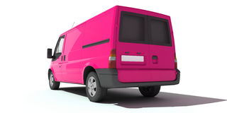 桃红色搬运车背面图  图库摄影
