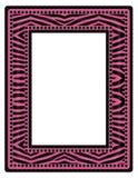 桃红色斑马框架 免版税库存图片