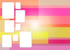 桃红色方形的抽象背景 图库摄影