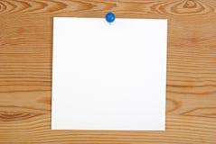 桃红色方形的空白纸 库存图片