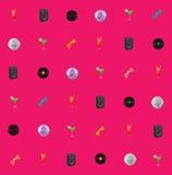 桃红色无缝的传染媒介迪斯科题材 免版税库存照片
