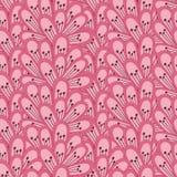 桃红色无缝的模式 免版税图库摄影