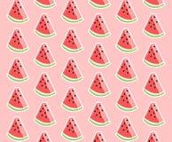 桃红色时髦西瓜三角样式 库存例证