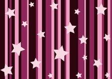 桃红色星形数据条 免版税库存图片