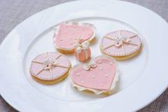 桃红色曲奇饼 库存照片
