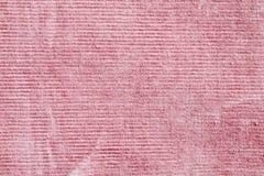 桃红色条绒 库存照片