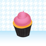 桃红色杯形蛋糕例证 图库摄影