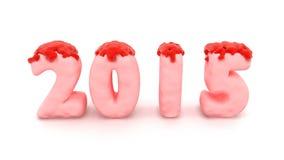 2015桃红色果冻 免版税图库摄影