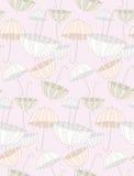 桃红色柔和的伞 免版税库存照片