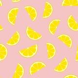 桃红色柠檬水无缝的传染媒介样式瓦片 库存例证