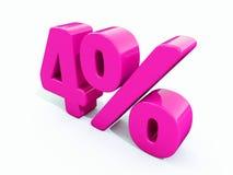 4%桃红色标志 库存照片