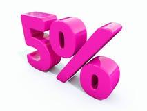 5%桃红色标志 库存照片