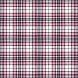桃红色格子呢无缝的传染媒介样式 方格的格子花呢披肩纹理 织品的几何方形的背景 库存照片