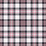 桃红色格子呢无缝的传染媒介样式 方格的格子花呢披肩纹理 织品的几何方形的背景 免版税库存图片