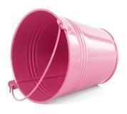 桃红色桶 库存图片