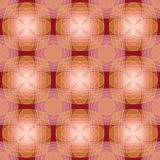 桃红色棕色无缝的几何样式 免版税库存图片