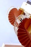 桃红色楼梯 免版税库存照片