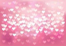 桃红色欢乐光在心脏塑造,导航 库存例证