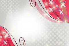 桃红色正方形和线,抽象背景 免版税库存照片