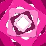 桃红色正方形的抽象样式 库存图片