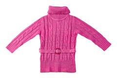 桃红色毛线衣羊毛 库存照片