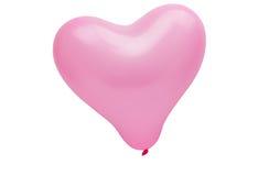 桃红色气球心脏 库存照片
