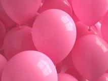 桃红色气球 库存照片