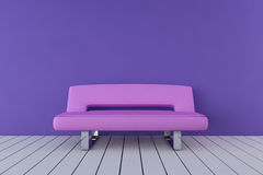 桃红色沙发 库存照片