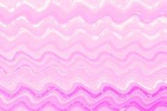 桃红色波浪水彩油漆数字式艺术背景 免版税库存图片