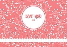 桃红色浪漫被仿造的海报为情人节假日 库存图片