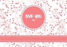 桃红色浪漫被仿造的海报为情人节假日 库存照片