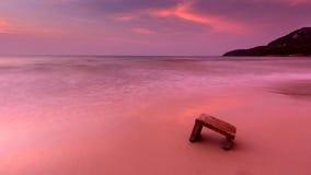 桃红色海滩 库存图片