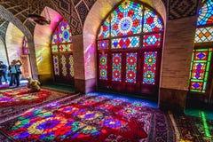 桃红色清真寺在设拉子 库存图片