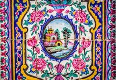 桃红色清真寺在设拉子 免版税库存照片