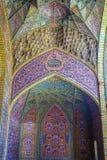 桃红色清真寺在设拉子 库存照片