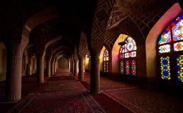 桃红色清真寺,设拉子,伊朗 库存图片