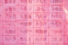 桃红色灰浆块墙壁样式 免版税库存照片