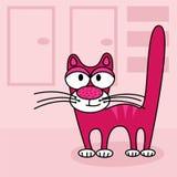 桃红色猫 库存照片