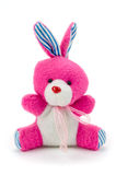 桃红色玩具小兔 库存图片