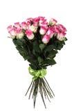 桃红色玫瑰大花束  免版税图库摄影