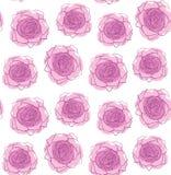 桃红色玫瑰样式传染媒介 皇族释放例证