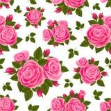 桃红色玫瑰样式 免版税库存照片