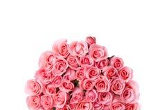 桃红色玫瑰被隔绝的花花束 免版税库存照片