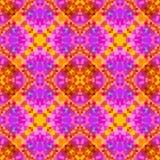 桃红色现代抽象纹理 详细的背景例证 几何无缝的瓦片 万花筒作用 家庭装饰织品de 免版税库存图片