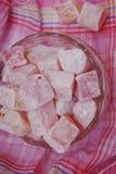 桃红色甜点 库存照片