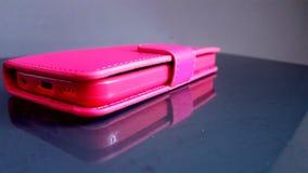 桃红色电话-盖子 免版税库存图片