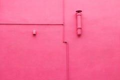 桃红色的墙壁 免版税图库摄影