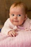 桃红色的女婴 免版税图库摄影